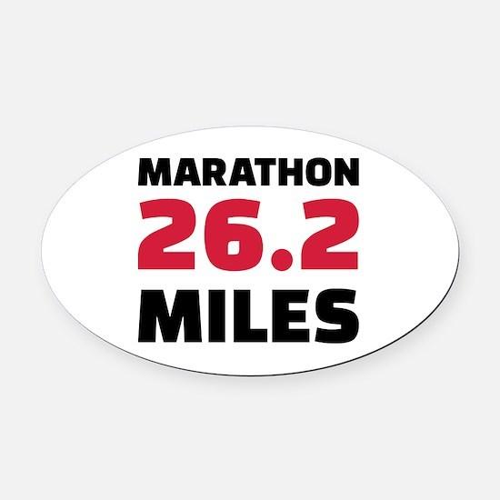 Marathon 26 miles Oval Car Magnet