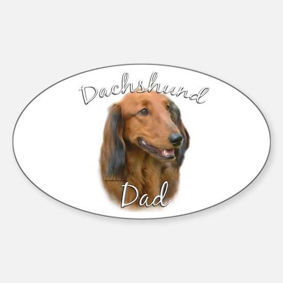 Dachshund Dad2 Oval Decal