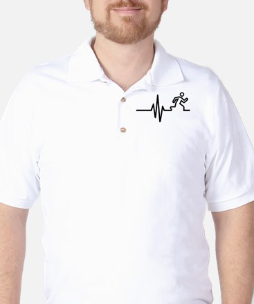 Runner frequency Golf Shirt