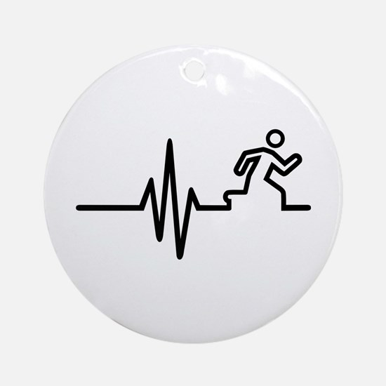 Runner frequency Round Ornament