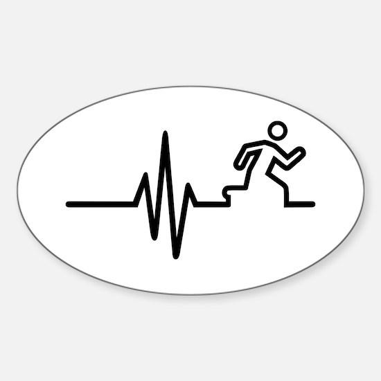 Runner frequency Sticker (Oval)