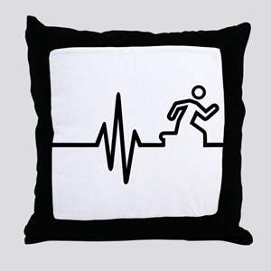 Runner frequency Throw Pillow