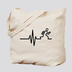 Runner frequency Tote Bag