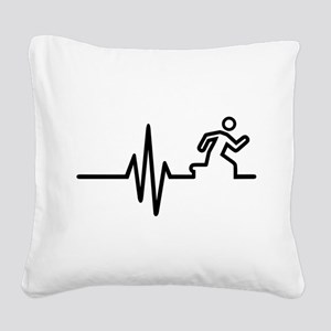 Runner frequency Square Canvas Pillow