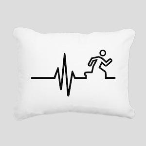 Runner frequency Rectangular Canvas Pillow