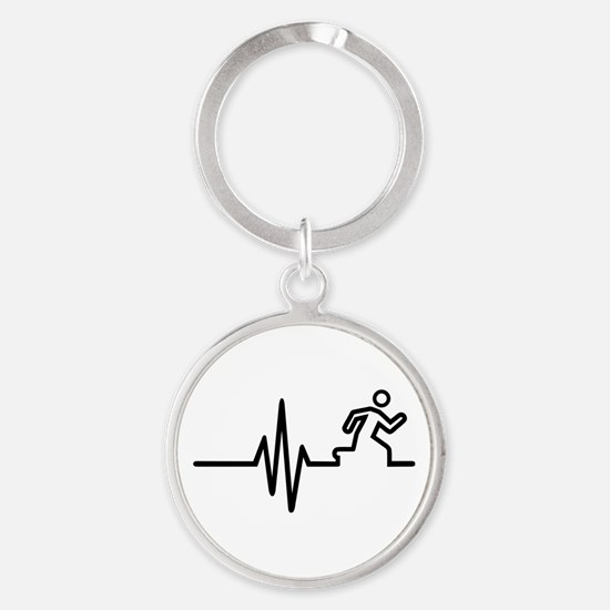Runner frequency Round Keychain