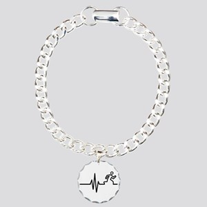 Runner frequency Charm Bracelet, One Charm