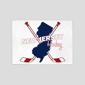 New Jersey Hockey 5'x7'Area Rug