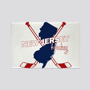 New Jersey Hockey Rectangle Magnet