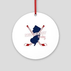 New Jersey Hockey Round Ornament