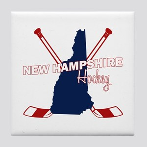 New Hampshire Hockey Tile Coaster