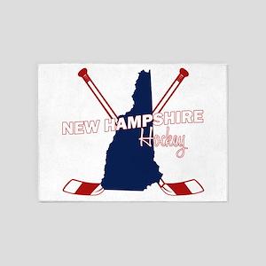 New Hampshire Hockey 5'x7'Area Rug
