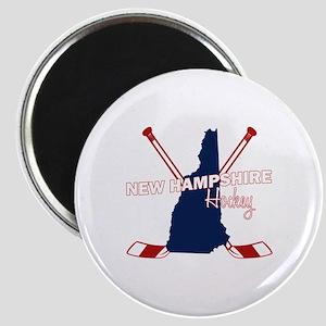 New Hampshire Hockey Magnet