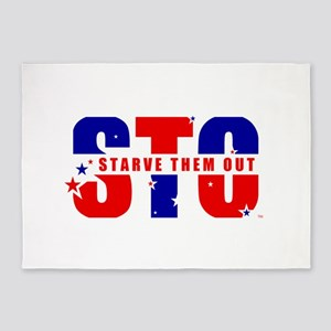 Sto Starve Them Out Logo 5'x7'area Rug