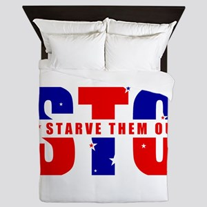 Sto Starve Them Out Logo Queen Duvet