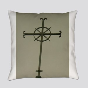 cross catholic church Everyday Pillow