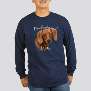 Dachshund Mom2 Long Sleeve Dark T-Shirt