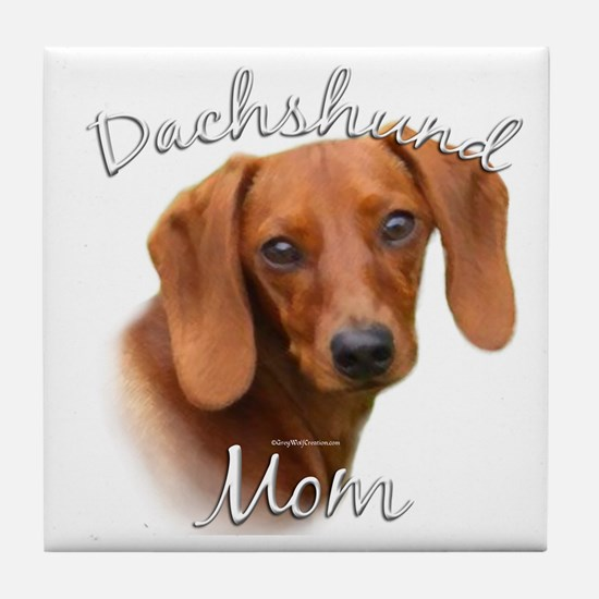 Dachshund Mom2 Tile Coaster