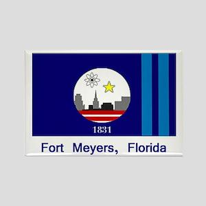 Fort Meyers FL Flag Rectangle Magnet
