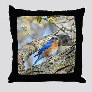 Bluebird Throw Pillow