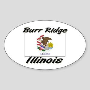 Burr Ridge Illinois Oval Sticker
