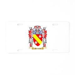 Pieruccio Aluminum License Plate