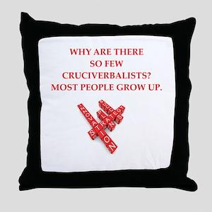 crossword puzzle njoke Throw Pillow
