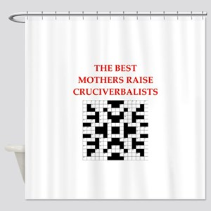 crossword puzzle njoke Shower Curtain