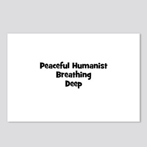 Peaceful Humanist Breathing D Postcards (Package o