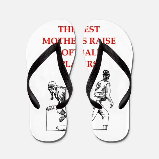 softball joke Flip Flops