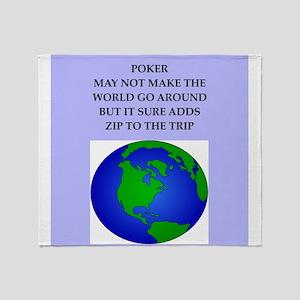 poker joke Throw Blanket