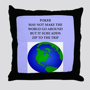 poker joke Throw Pillow