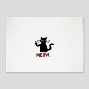 meow fuck you cat 5'x7'Area Rug