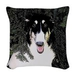 Borzoi Portrait Woven Throw Pillow