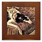 Borzoi Bedtime Framed Tile