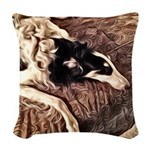 Borzoi Bedtime Woven Throw Pillow