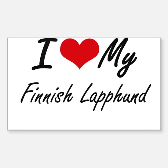 I love my Finnish Lapphund Decal