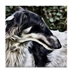 Borzoi Profile Tile Coaster