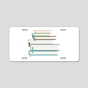 Stack Of Books Aluminum License Plate