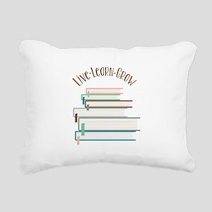 Live Learn Grow Rectangular Canvas Pillow
