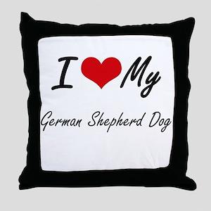 I love my German Shepherd Dog Throw Pillow