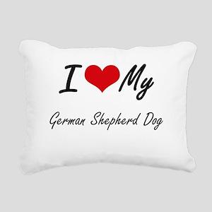 I love my German Shepher Rectangular Canvas Pillow