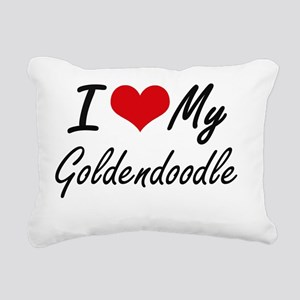I love my Goldendoodle Rectangular Canvas Pillow