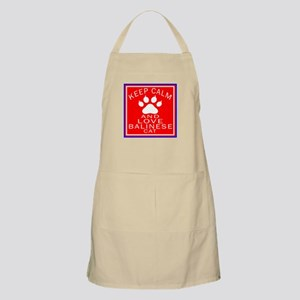 Keep Calm And Balinese Cat Apron
