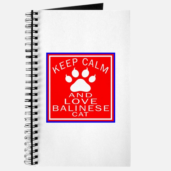 Keep Calm And Balinese Cat Journal
