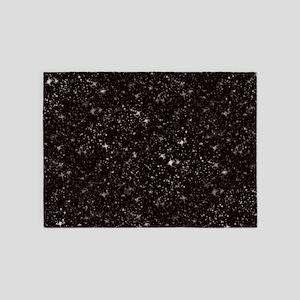 black white stars 5'x7'Area Rug