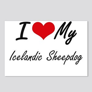 I love my Icelandic Sheep Postcards (Package of 8)