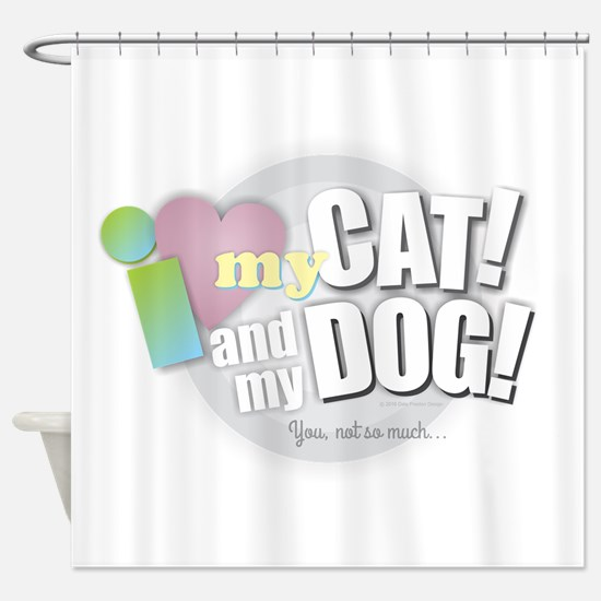 Cool Cats rule Shower Curtain
