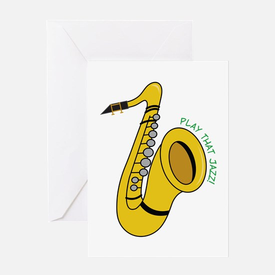 Play That Jazz Greeting Cards