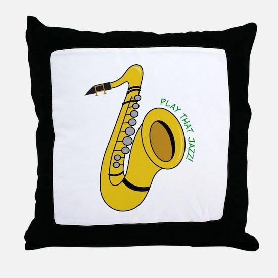 Play That Jazz Throw Pillow